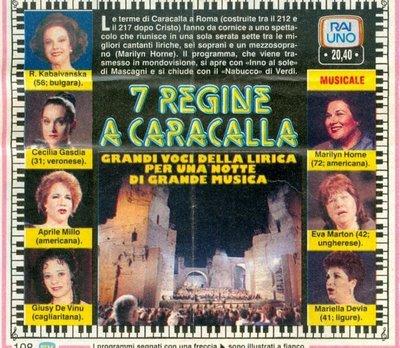 7 regine a Caracalla