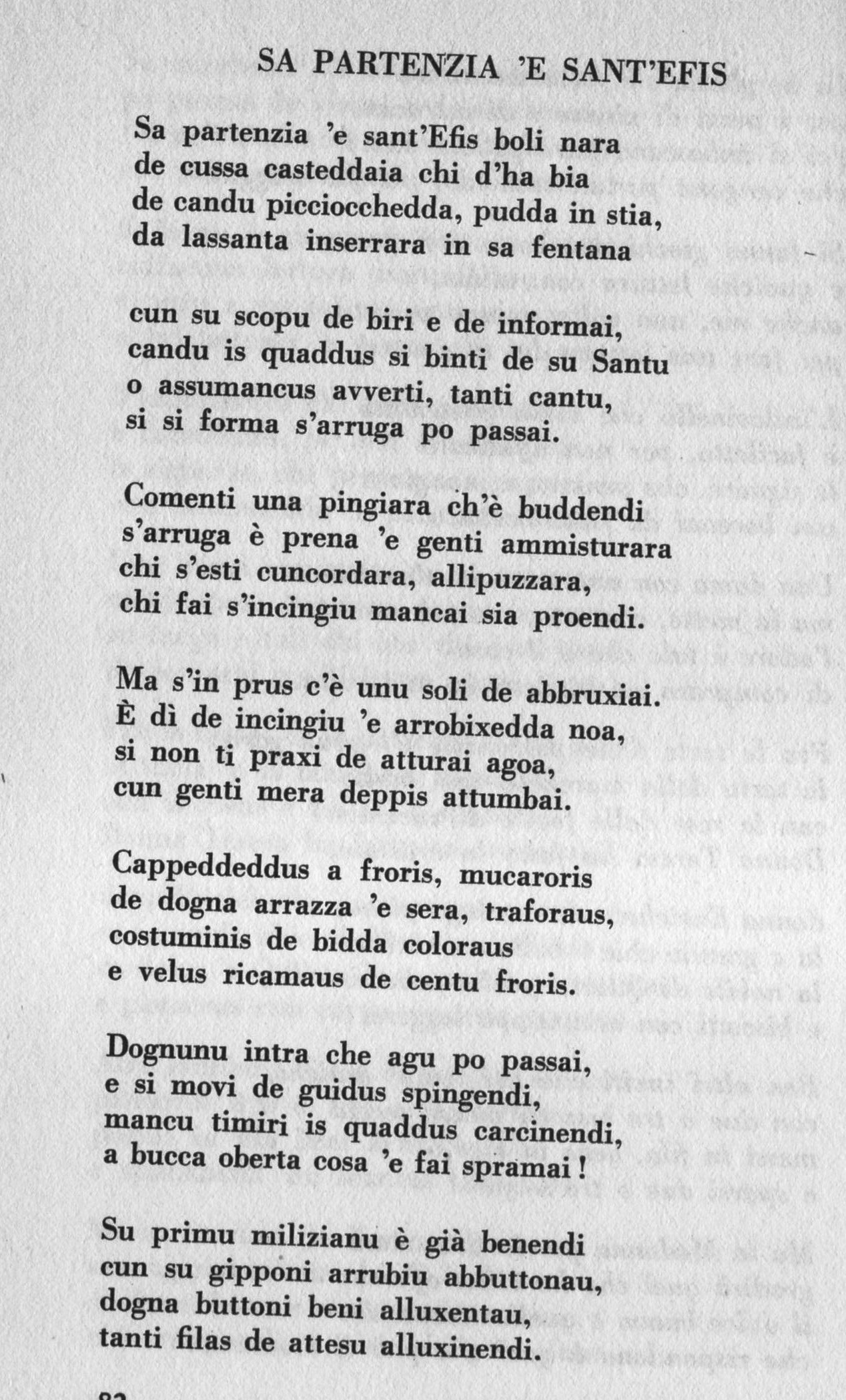 Poesie Di Natale In Sardo.Sant Efisio In Versi 1 Parte Musicamore